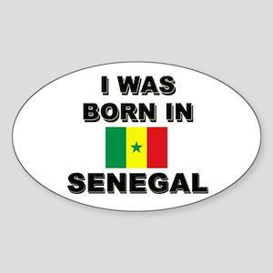 I Was Born In Senegal Oval Sticker