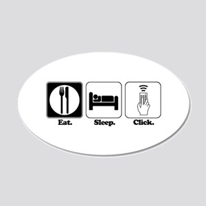 click 20x12 Oval Wall Decal