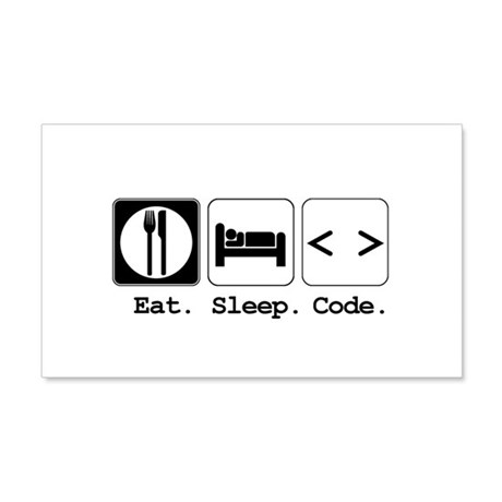 code.png 20x12 Wall Decal