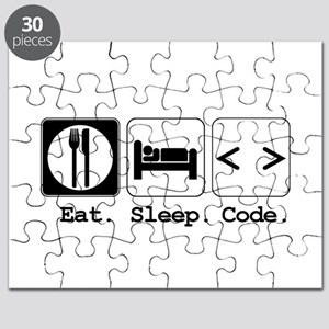 Eat Sleep Code Puzzles - CafePress