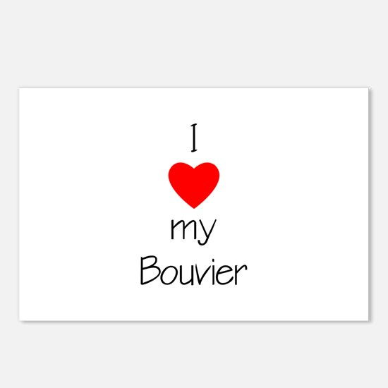 I Love My Bouvier Postcards (Package of 8)