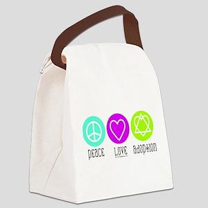 Peace Love Adoption Canvas Lunch Bag