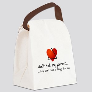Don't tell my parents... Canvas Lunch Bag