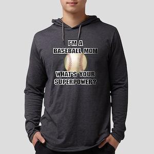 Baseball Mom Superhero Mens Hooded Shirt