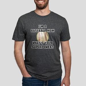 Baseball Mom Superhero Mens Tri-blend T-Shirt