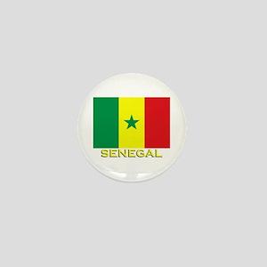 Senegal Flag Gear Mini Button