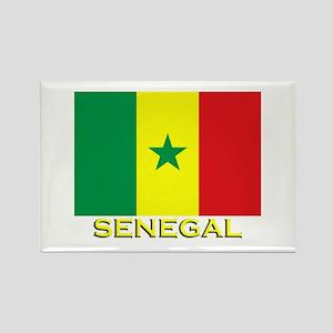 Senegal Flag Gear Rectangle Magnet