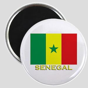 Senegal Flag Gear Magnet