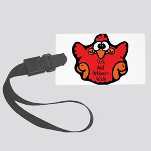 cluck-wolf-parkinson-white Large Luggage Tag