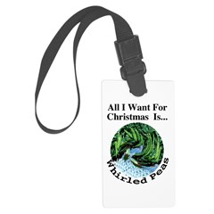 Christmas Peas Luggage Tag