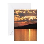Cavity Lake Sunset Greeting Cards (Pk of 10)
