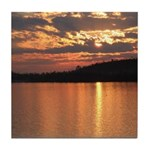 Cavity Lake Sunset Tile Coaster
