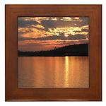 Cavity Lake Sunset Framed Tile