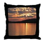 Cavity Lake Sunset Throw Pillow