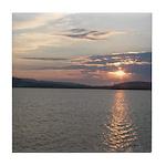 Lake Sunrise Tile Coaster