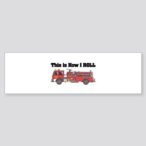 fire truck Sticker (Bumper)