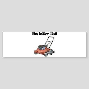 law mower Sticker (Bumper)