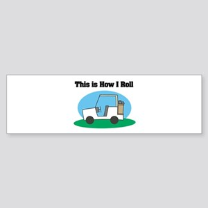 golf cart copy Sticker (Bumper)