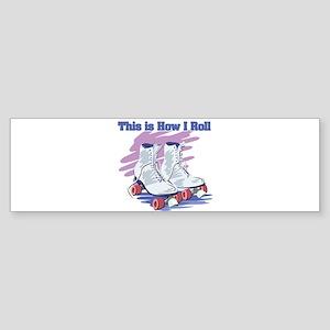 roller skates Sticker (Bumper)