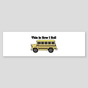 short yellow bus Sticker (Bumper)