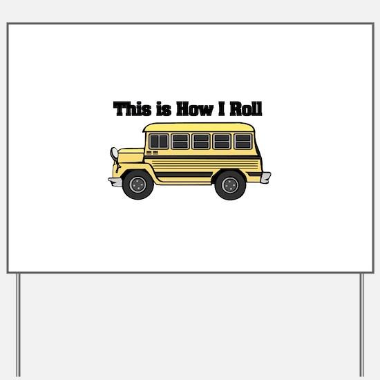 short yellow bus.png Yard Sign