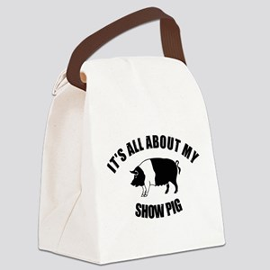 Its All About My Show Pig Canvas Lunch Bag