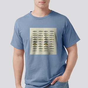 Freshwater Fish Chart Mens Comfort Colors Shirt