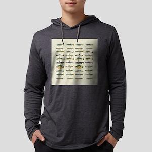 Freshwater Fish Chart Mens Hooded Shirt