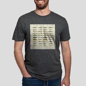 Freshwater Fish Chart Mens Tri-blend T-Shirt