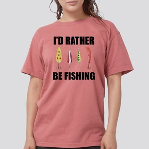 FIN-rather be fishing Womens Comfort Colors Sh