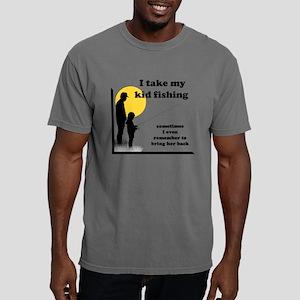 I Take My Kid Fishing Mens Comfort Colors Shirt