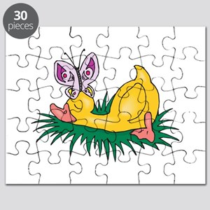 sleeping duck with butterfly Puzzle