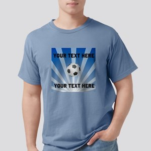 Personalized Soccer Mens Comfort Colors Shirt