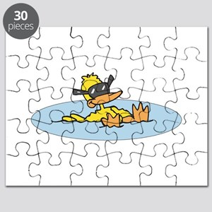 swimming duck with sunglasses Puzzle