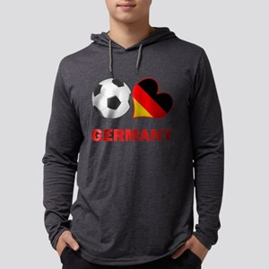 SOCCER-peace-love-germany Mens Hooded Shirt