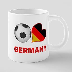 SOCCER-peace-love-germany 20 oz Ceramic Mega M