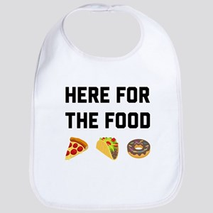 Here for the Food Cotton Baby Bib