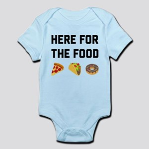 Here for the Food Infant Bodysuit