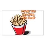 fries with that.png Sticker (Rectangle 50 pk)