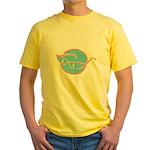 glasses-retro Yellow T-Shirt