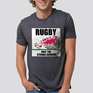Rugby Survival Mens Tri-blend T-Shirt
