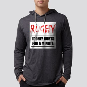 Rugby Hurts Mens Hooded Shirt