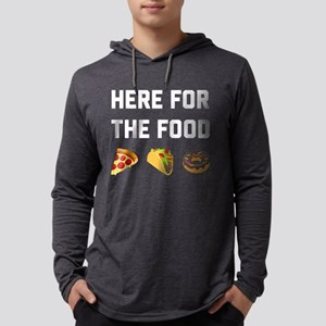 Here for the Food Mens Hooded Shirt