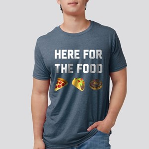 Here for the Food Mens Tri-blend T-Shirt