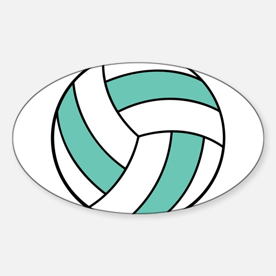 volleyball belly.png Sticker (Oval)