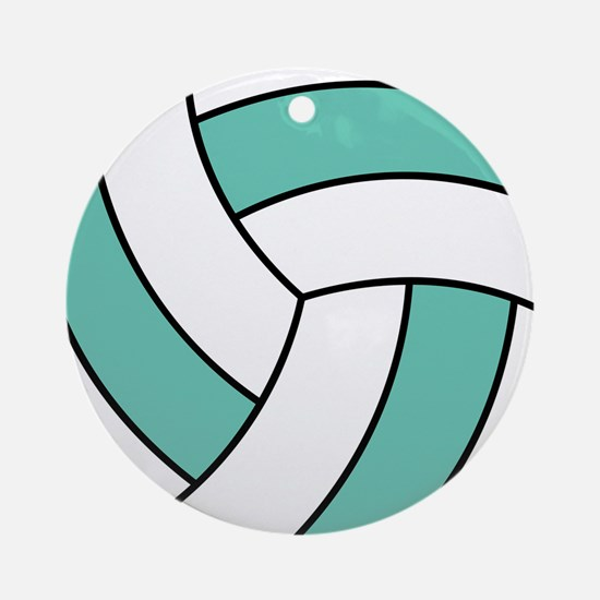 volleyball belly.png Ornament (Round)