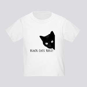 BLACK CATS RULE Toddler T-Shirt