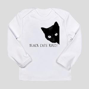 BLACK CATS RULE Long Sleeve Infant T-Shirt
