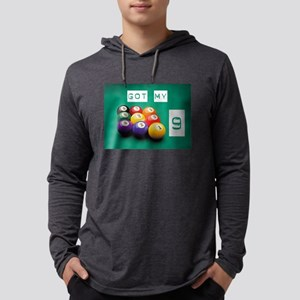 Pool Nine Ball Mens Hooded Shirt
