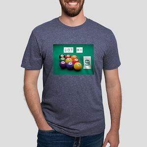 Pool Nine Ball Mens Tri-blend T-Shirt